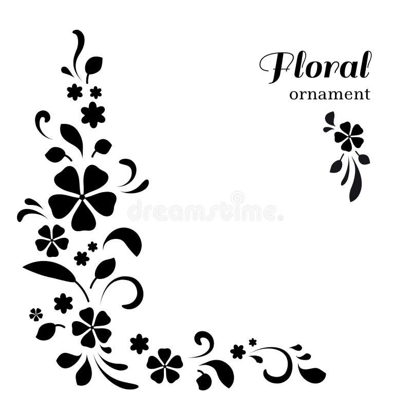 Ornamento de canto no branco ilustração stock