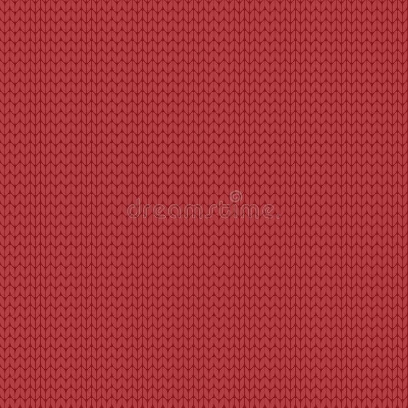 Ornamento de confecção de malhas do teste padrão sem emenda ilustração do repeatablle do vetor da textura lisa realictic da malha ilustração stock