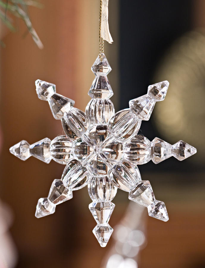 Ornamento de cristal fotos de stock royalty free