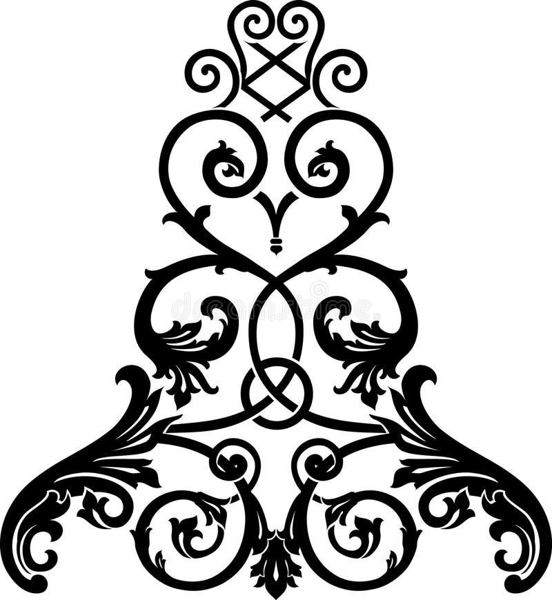 Ornamento de la cascada stock de ilustración