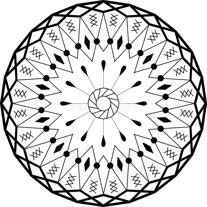 Ornamento De La Circular De La Mandala Del Esquema Modelo Intrincado ...