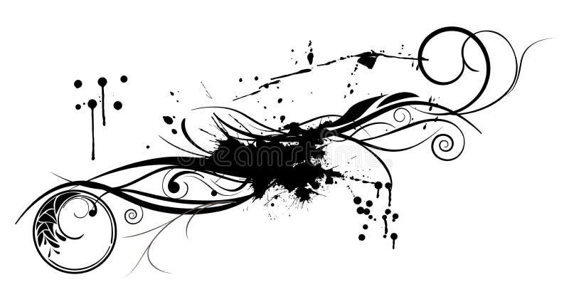 Ornamento de la flor de Grunge ilustración del vector