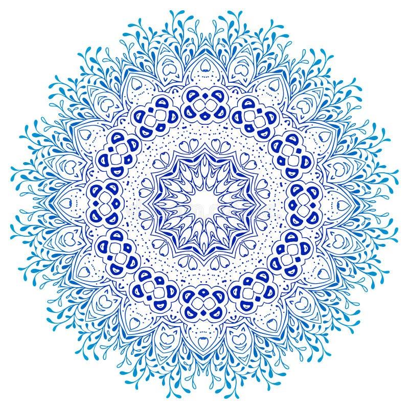 Ornamento de la mandala del vector Modelo floral redondo libre illustration