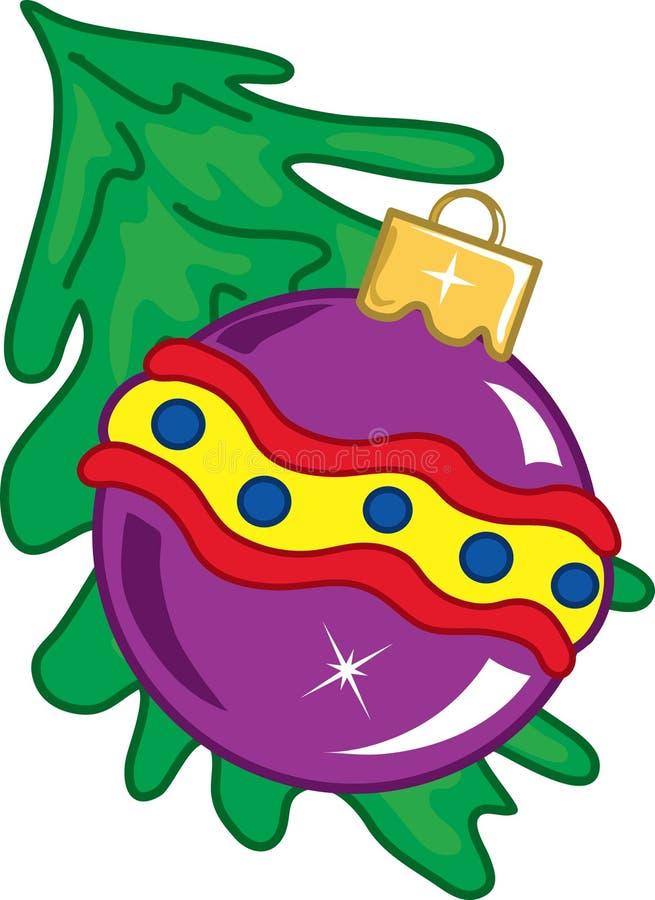 Ornamento de la Navidad stock de ilustración
