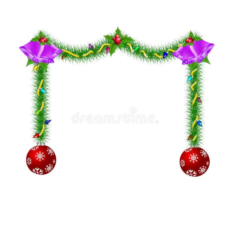 Download Ornamento de la Navidad stock de ilustración. Ilustración de acebo - 7275039