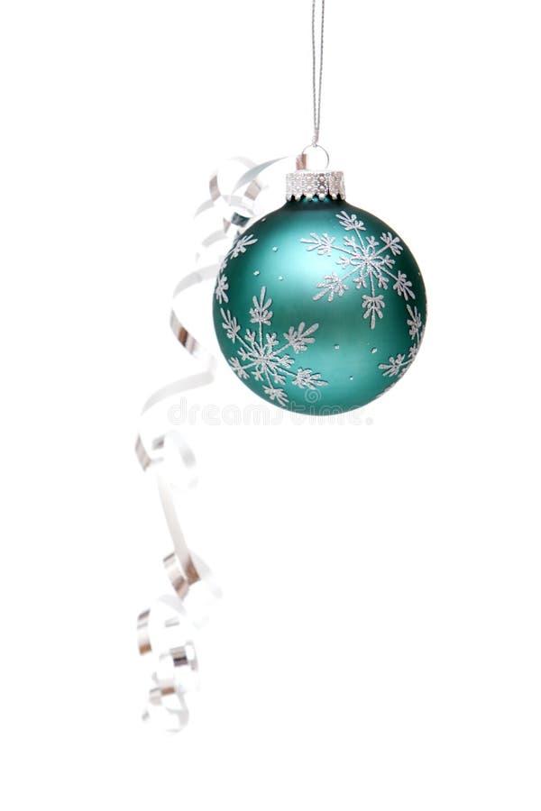 Ornamento de la Navidad con la cinta foto de archivo libre de regalías