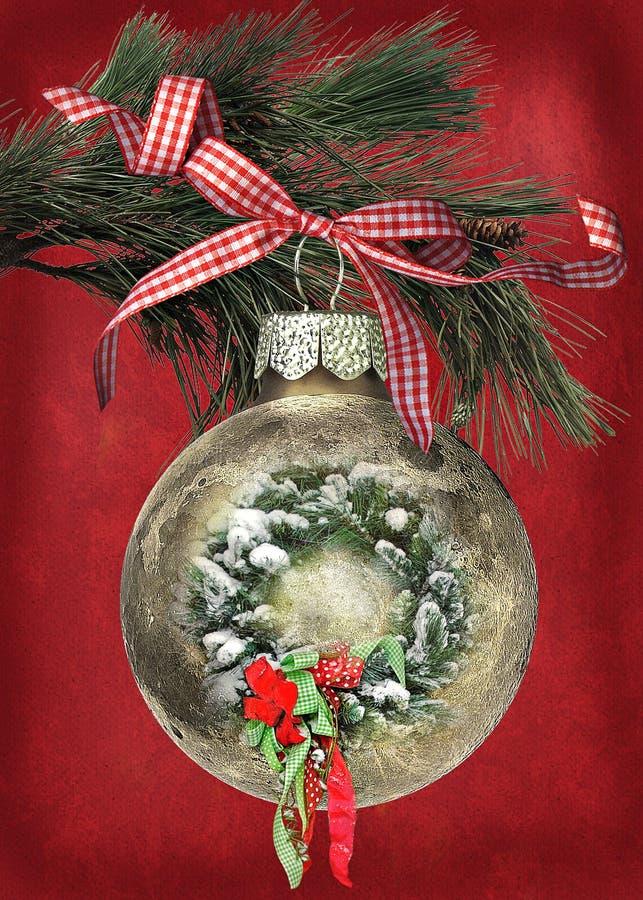 Ornamento de la Navidad con la guirnalda libre illustration