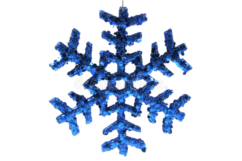 Ornamento de la Navidad - copo de nieve azul fotografía de archivo