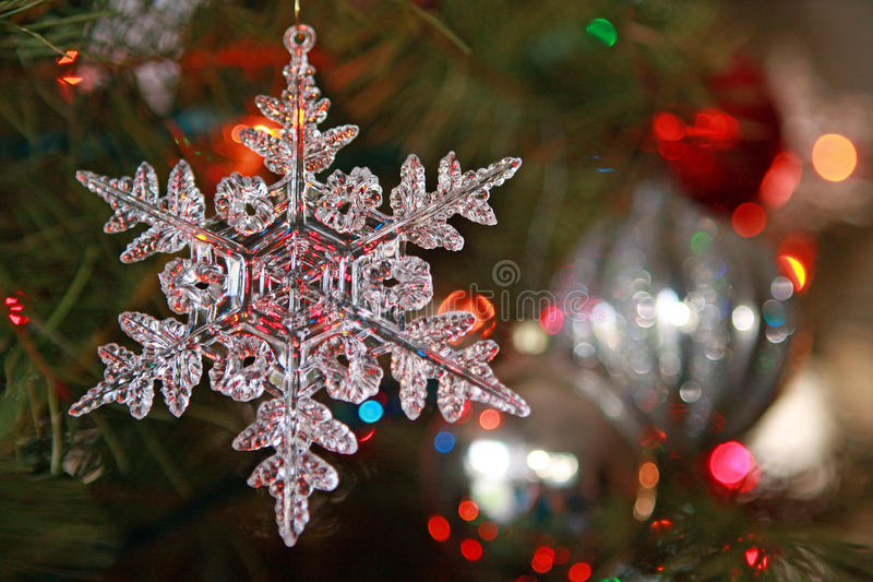 Ornamento de la Navidad del copo de nieve fotos de archivo libres de regalías