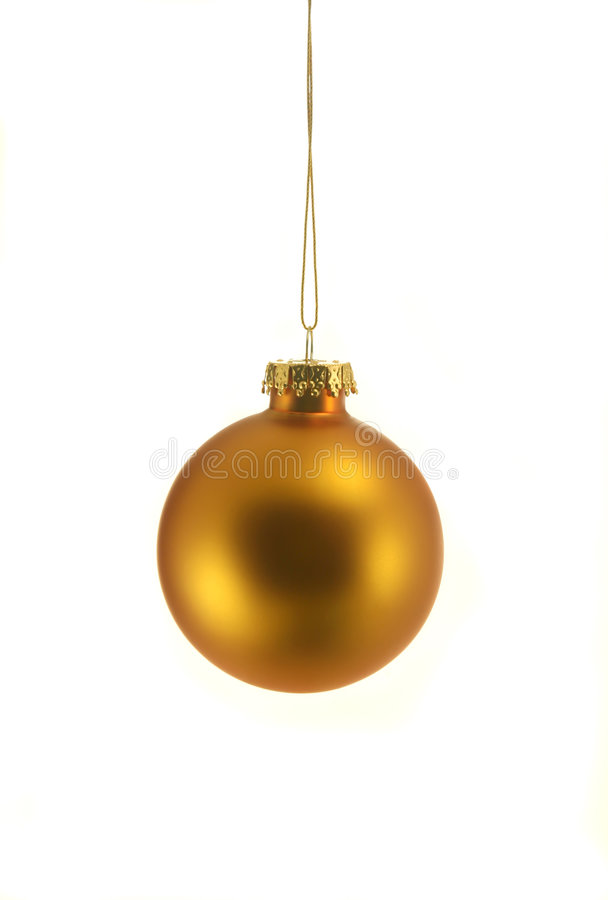 Ornamento de la Navidad del oro foto de archivo libre de regalías