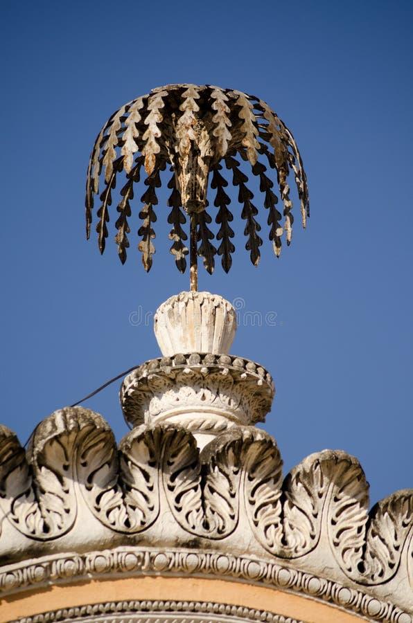Ornamento de la palmera, palacio de Chowmahalla fotos de archivo