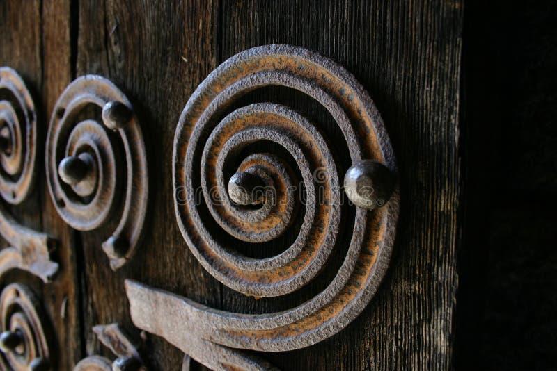 Ornamento de la puerta fotografía de archivo
