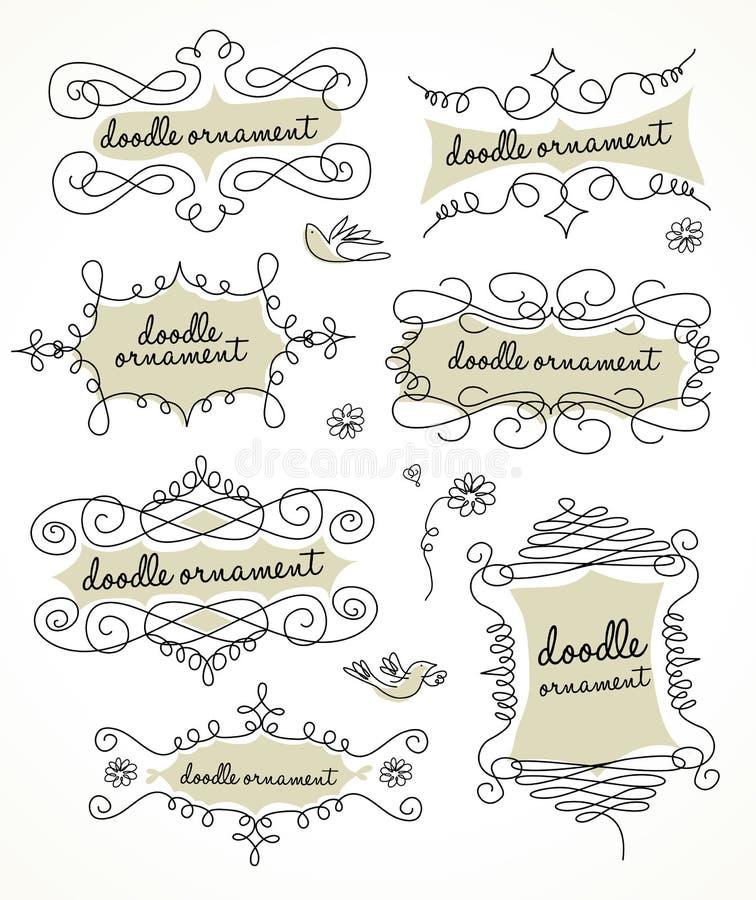 Ornamento de los Doodles ilustración del vector