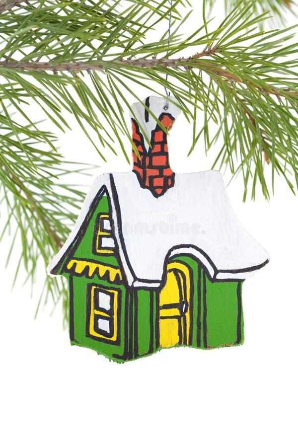 Ornamento De Madeira Pintado Da Casa Imagem de Stock Royalty Free
