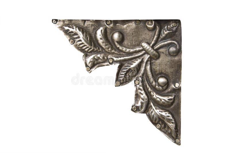 Ornamento de metal de la esquina fotografía de archivo libre de regalías