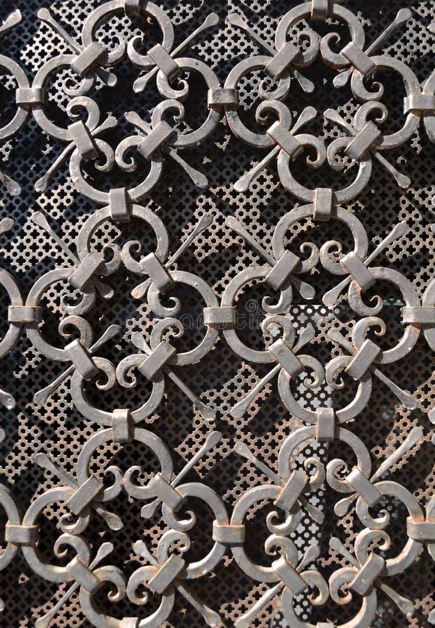Ornamento de metal de la vendimia imagenes de archivo