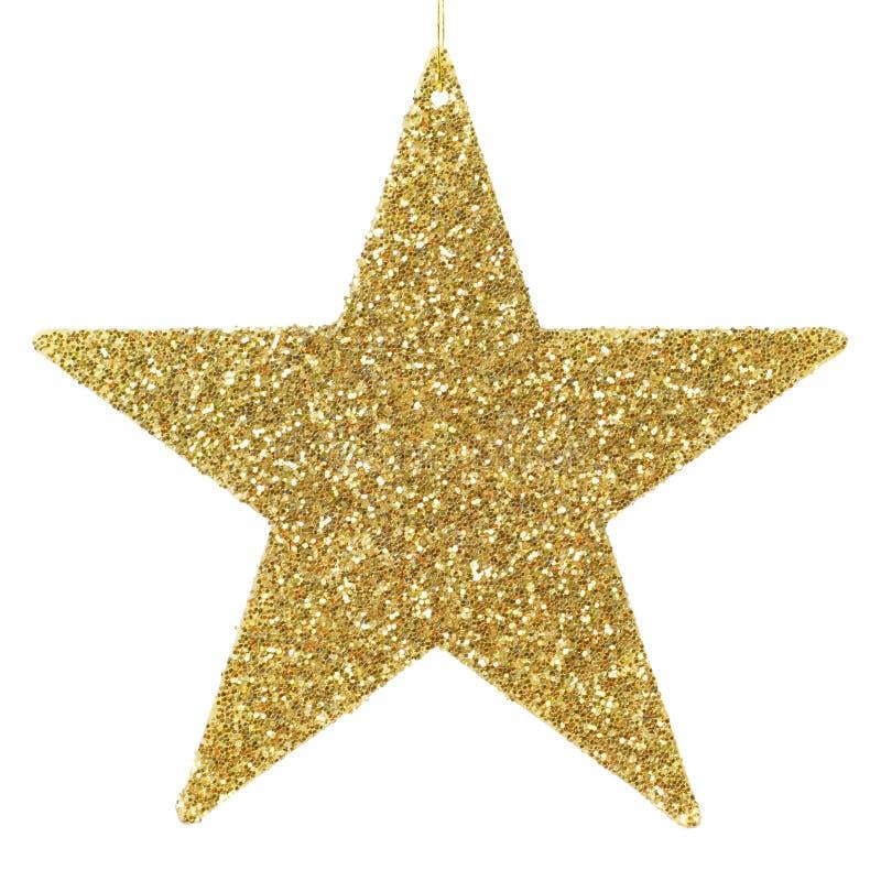 Ornamento de oro de la estrella que brilla imagen de archivo