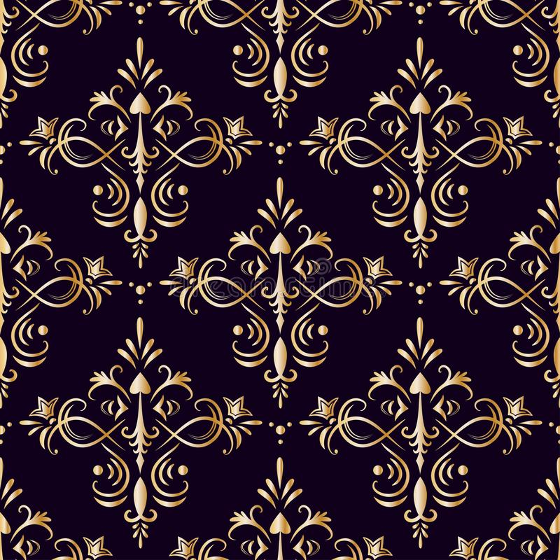 Ornamento de oro gráfico stock de ilustración