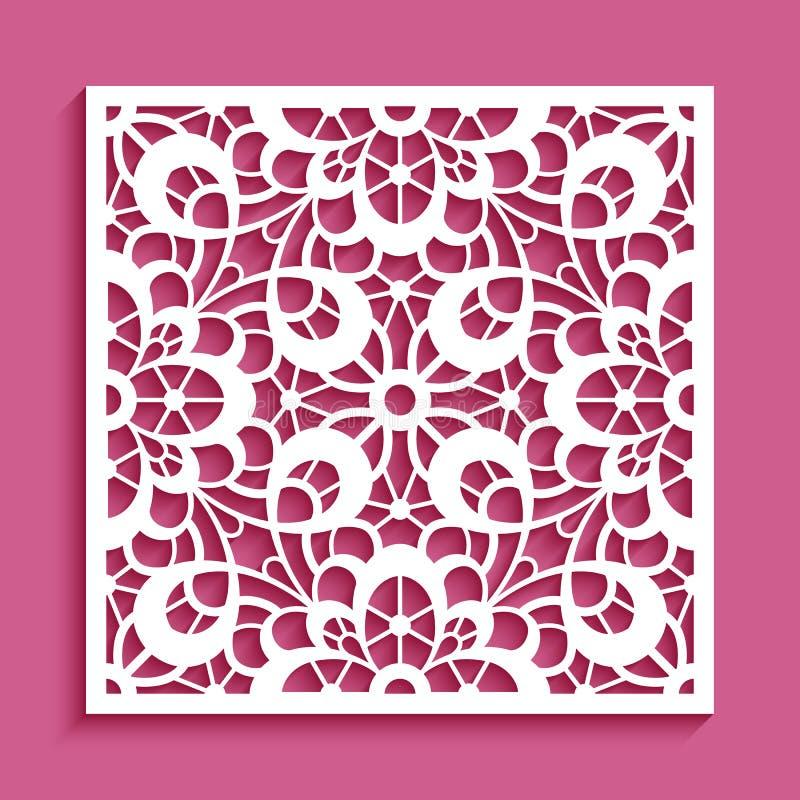 Ornamento de papel do entalhe, teste padrão do laço ilustração stock