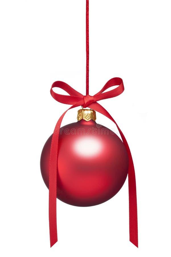 Ornamento de suspensão do Natal isolado imagens de stock
