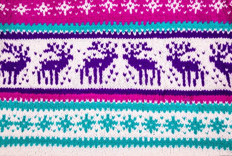 Ornamento de uma camiseta do inverno com cervos imagem de stock