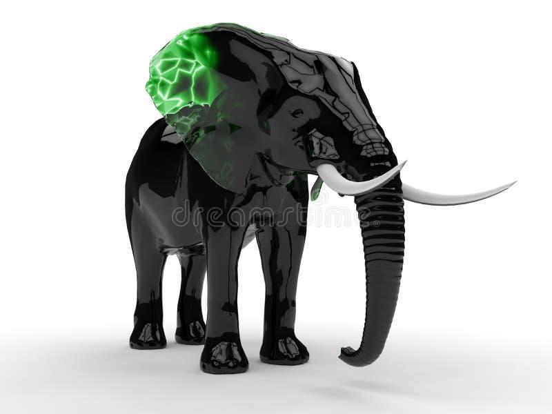 Ornamento de vidro do elefante ilustração stock