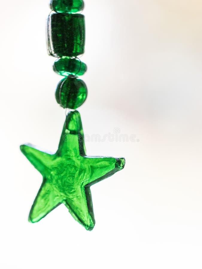 Ornamento de vidro feito a mão do Natal imagem de stock royalty free