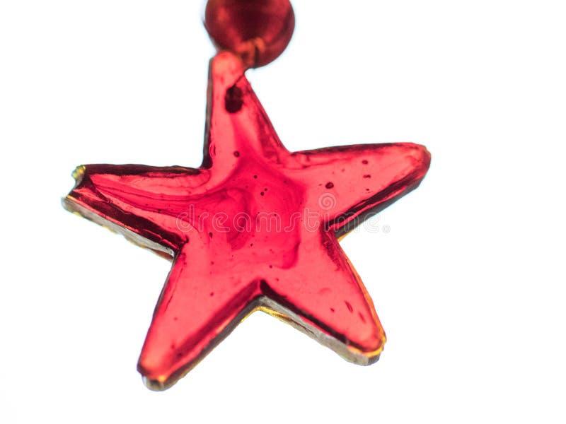 Ornamento de vidro feito a mão do Natal imagens de stock royalty free