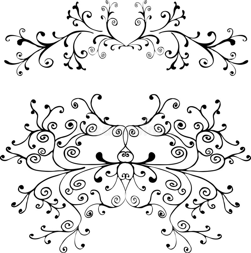 Download Ornamento decorativo ilustración del vector. Ilustración de corazón - 187379