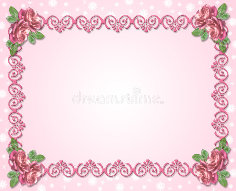 Ornamento decorativo con le rose illustrazione di stock