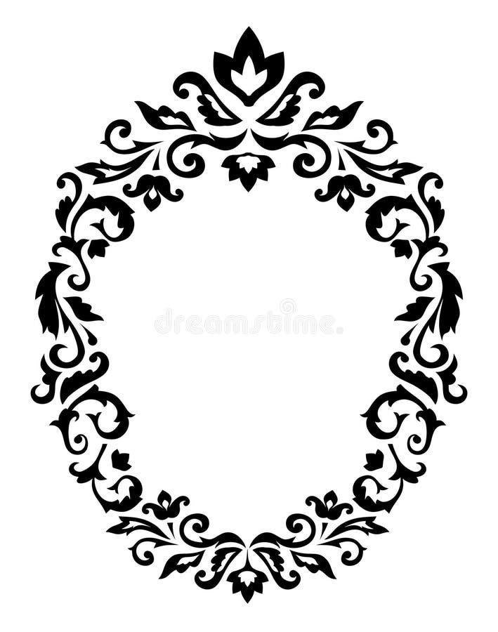 Ornamento decorativo de la frontera stock de ilustración