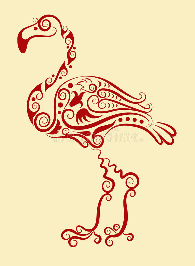 Ornamento decorativo del flamenco libre illustration