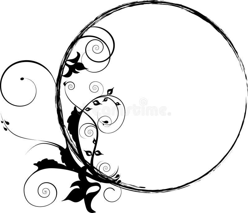 Ornamento decorativo di flourishes del cerchio illustrazione vettoriale