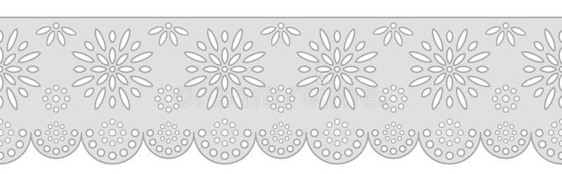 Ornamento decorativo per il confine di tessuto illustrazione vettoriale