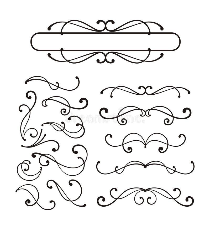Ornamento decorativos do rolo ilustração stock