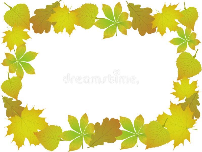 Ornamento dei fogli di autunno royalty illustrazione gratis