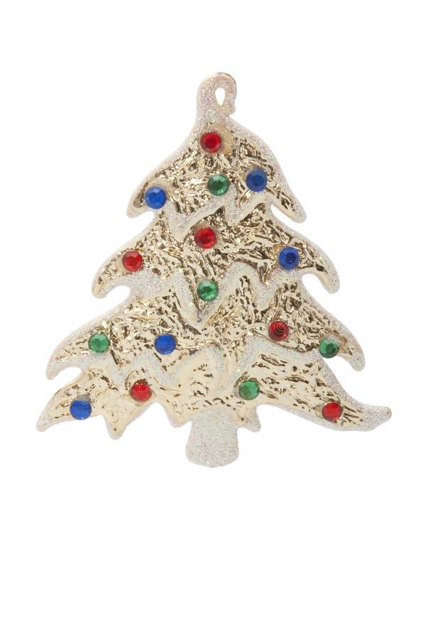 Ornamento del Año Nuevo - un pino con las joyas del color imágenes de archivo libres de regalías