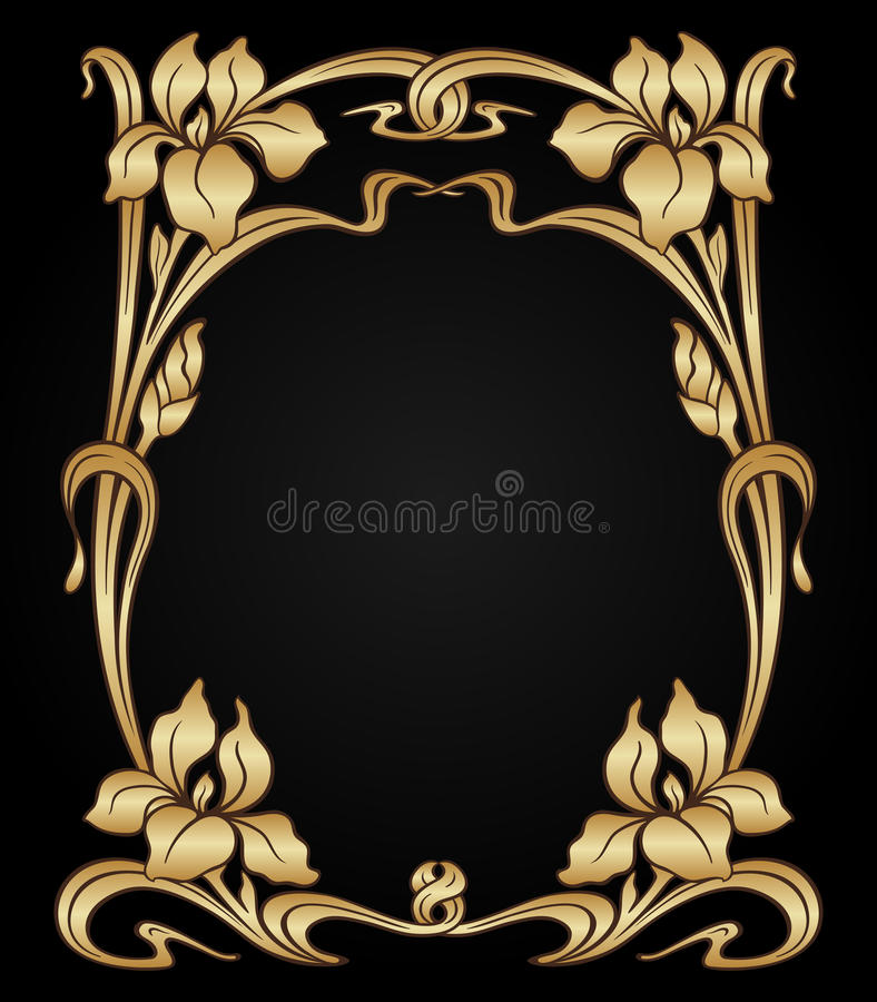 Ornamento del art nouveau del vector libre illustration