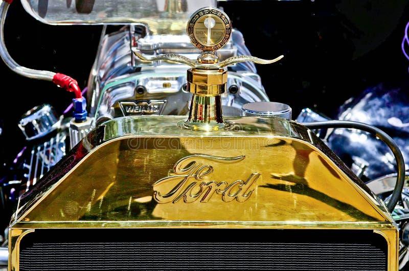 Ornamento del cappuccio di 1930 Ford fotografia stock libera da diritti
