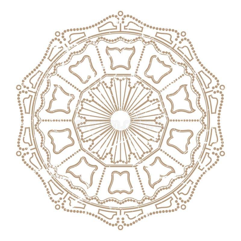 Ornamento del carrusel del vintage ilustración del vector