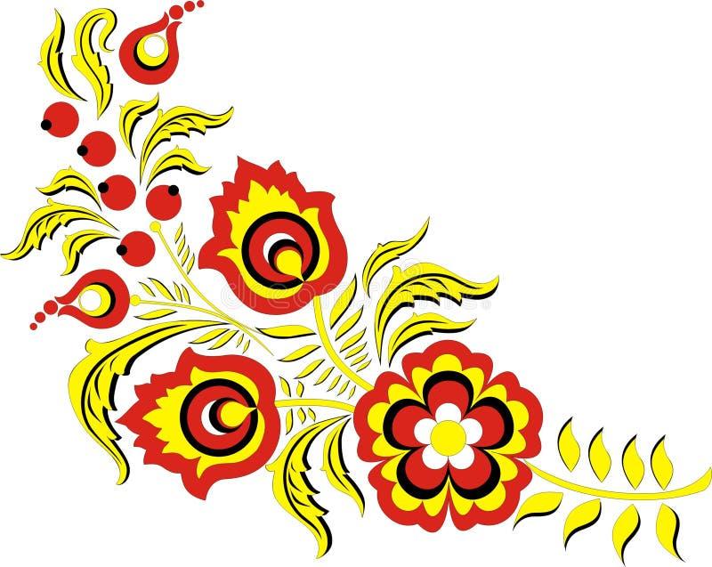 Ornamento del color stock de ilustración