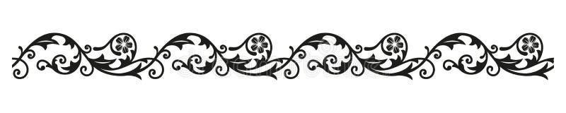 Ornamento del confine Elementi d'annata decorativi per progettazione illustrazione di stock
