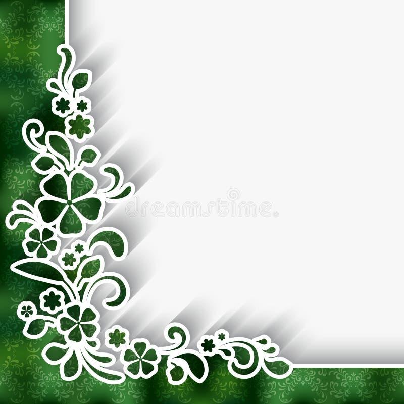 Ornamento del cordón de la esquina stock de ilustración