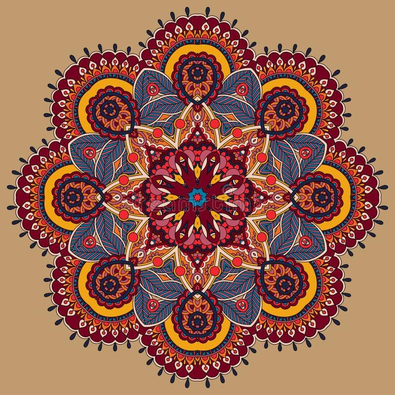 Download Ornamento Del Cordón Del Círculo, Geométrico Ornamental Redondo Ilustración del Vector - Ilustración de elemento, indio: 44850077