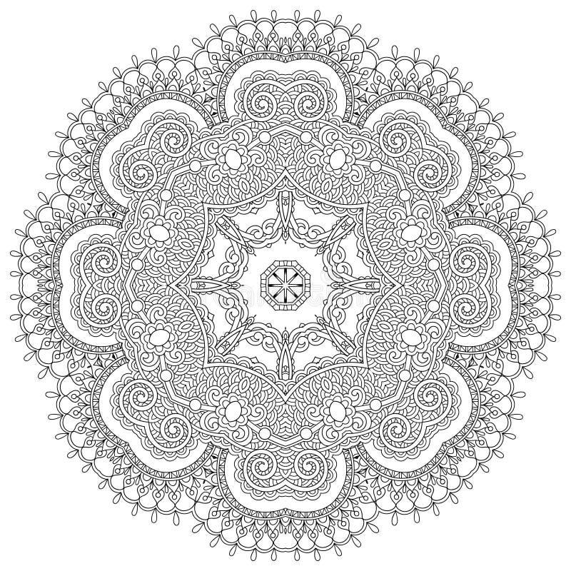 Download Ornamento Del Cordón Del Círculo, Geométrico Ornamental Redondo Ilustración del Vector - Ilustración de árabe, flor: 44851100