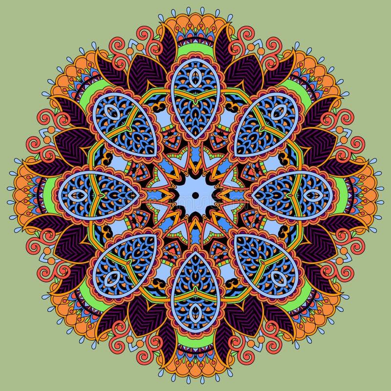 Download Ornamento Del Cordón Del Círculo, Geométrico Ornamental Redondo Ilustración del Vector - Ilustración de adornado, asiático: 44851708