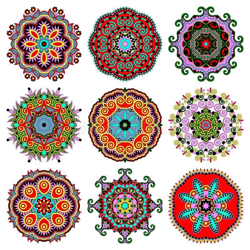 Ornamento del cordón del círculo, geométrico ornamental redondo stock de ilustración