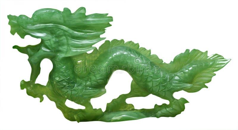 Ornamento del drago della giada fotografia stock