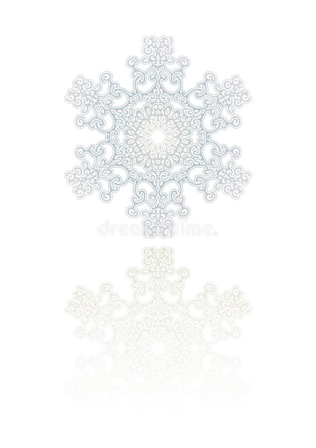 Ornamento del fiocco di neve illustrazione di stock
