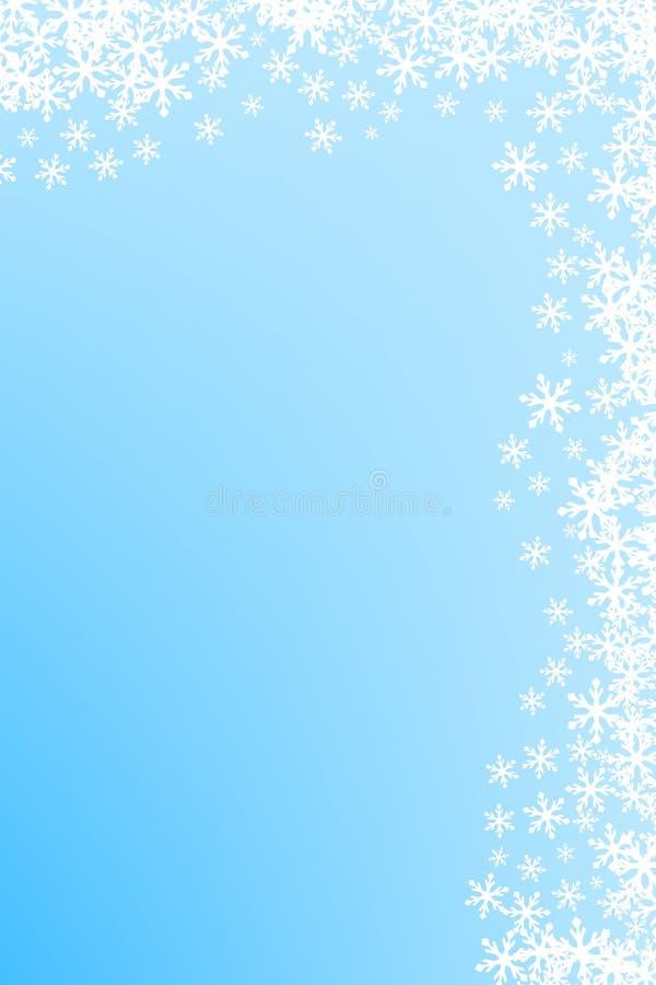 Ornamento del fiocco di neve di natale illustrazione di stock